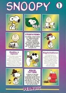 Strijkpatronenboek voor textielschilderen: Snoopy