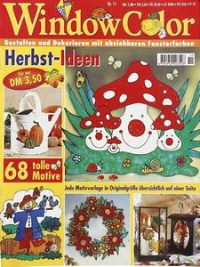 UITVERKOWindow Color nr.11 glasverf Herfst ideen, Duitstalig