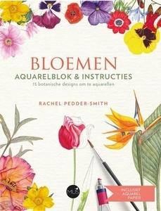 UITVERKOCBloemen Aquarelblok en instr., Rachel Pedeler-Smith