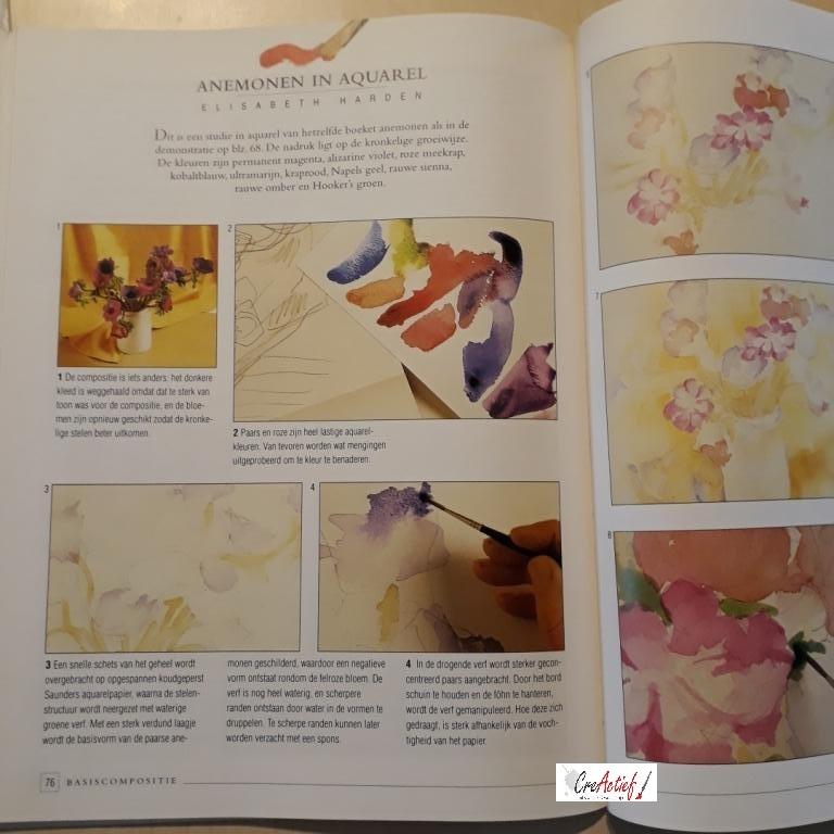 Bloemen schilderen, Elisabeth Harden (tweedehands)