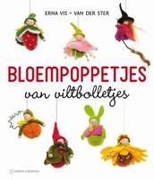 Forte boek Bloempoppetjes van viltbolletjes, Erna Vis