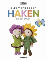 Haken: Bloemenpoppen haken, Bas den Braver Zabbez (2019)